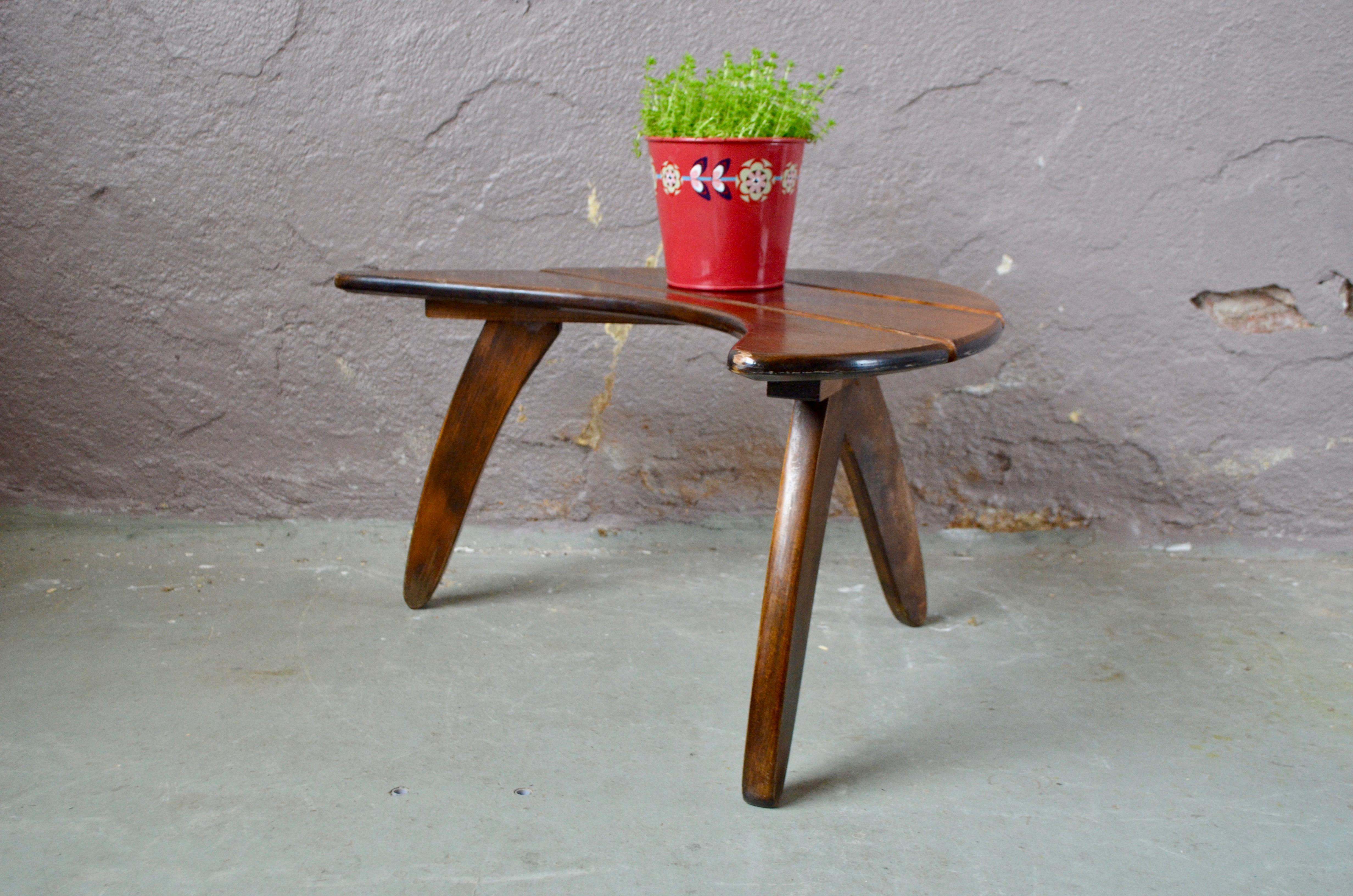 Chevet bout de canapé petite table basse en bois style vintage scandinave