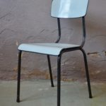 chaise tubauto 1950 french moderniste style jacques hitier midcentury