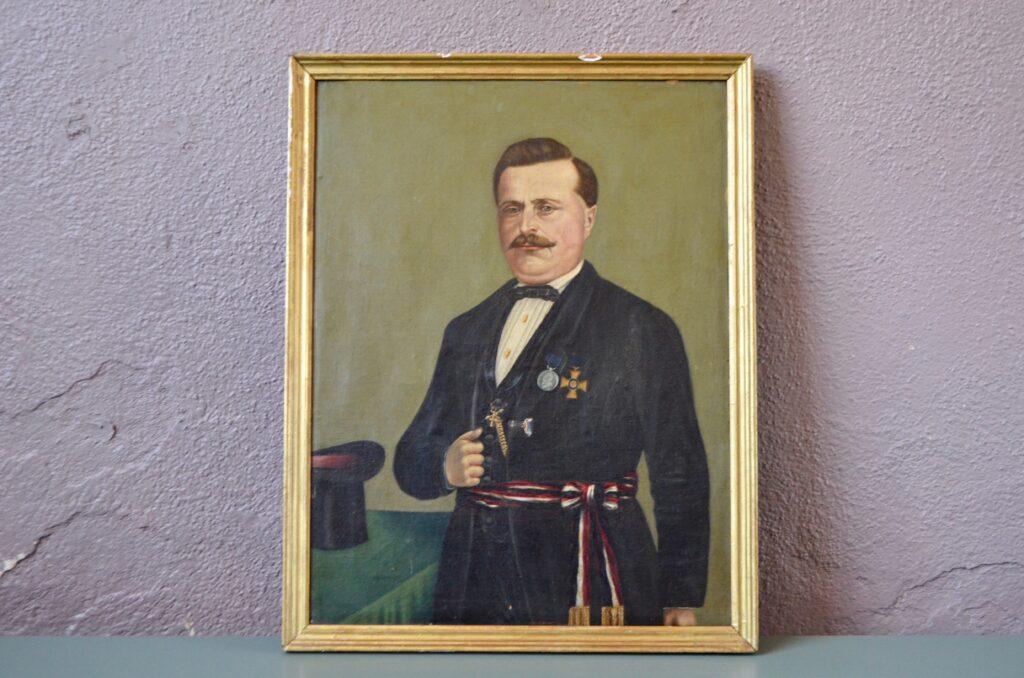 Huile sur toile Metzger 1872