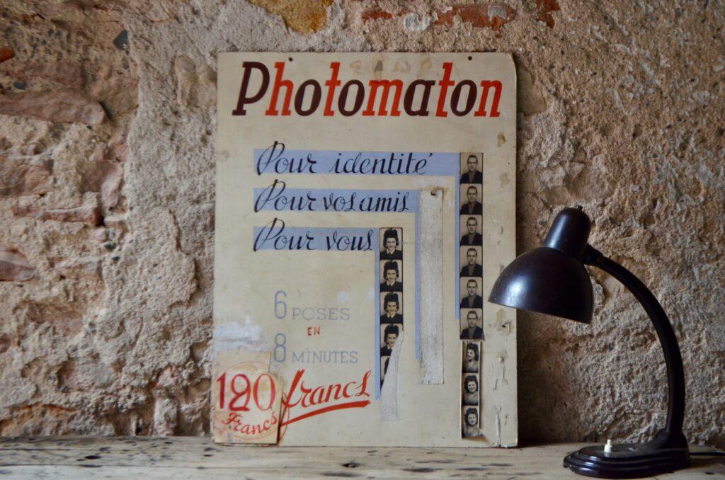 Affiche publicitaire Photomaton