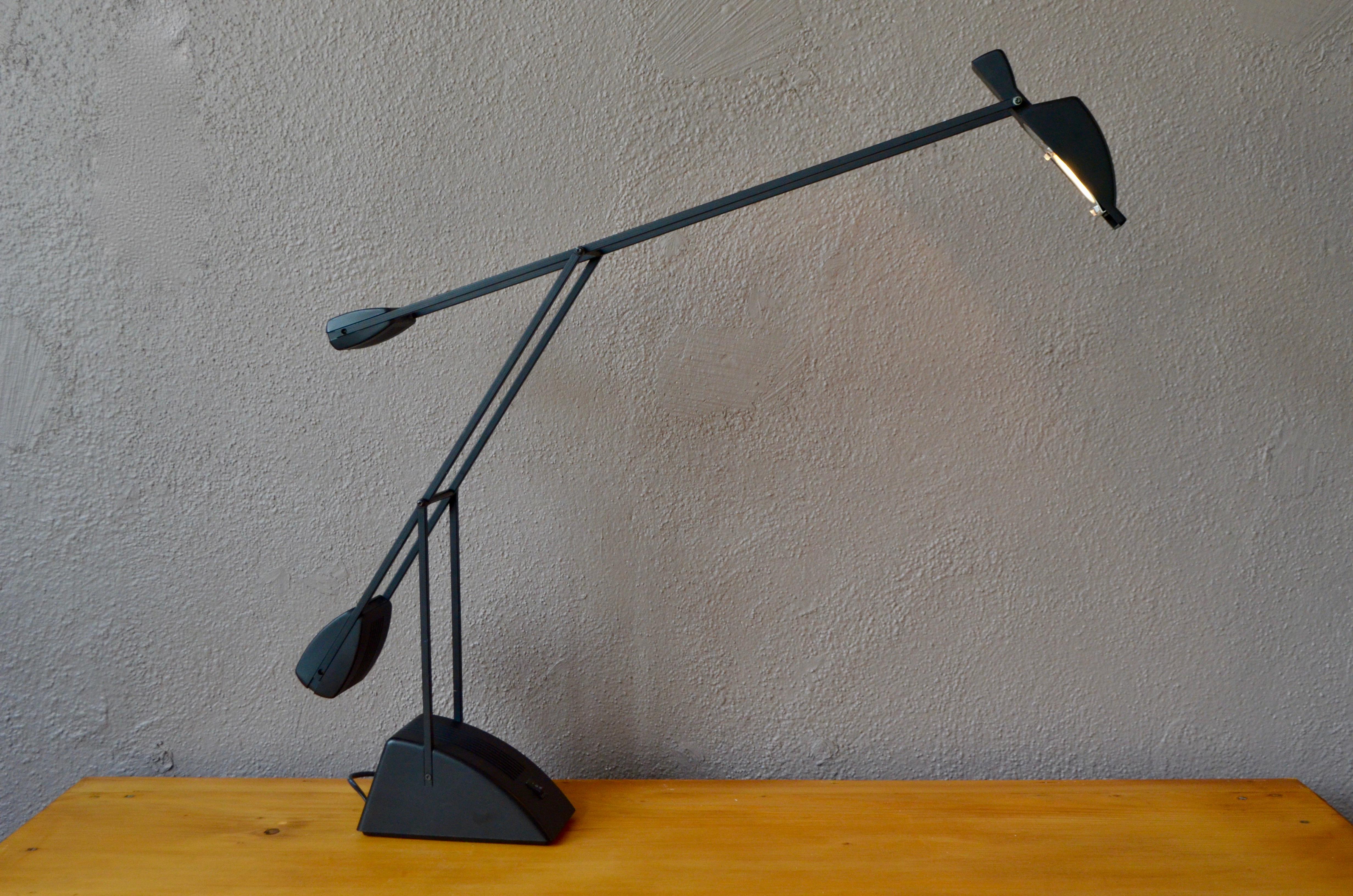 Lampe de bureau à balancier vintage design hollandais moderniste