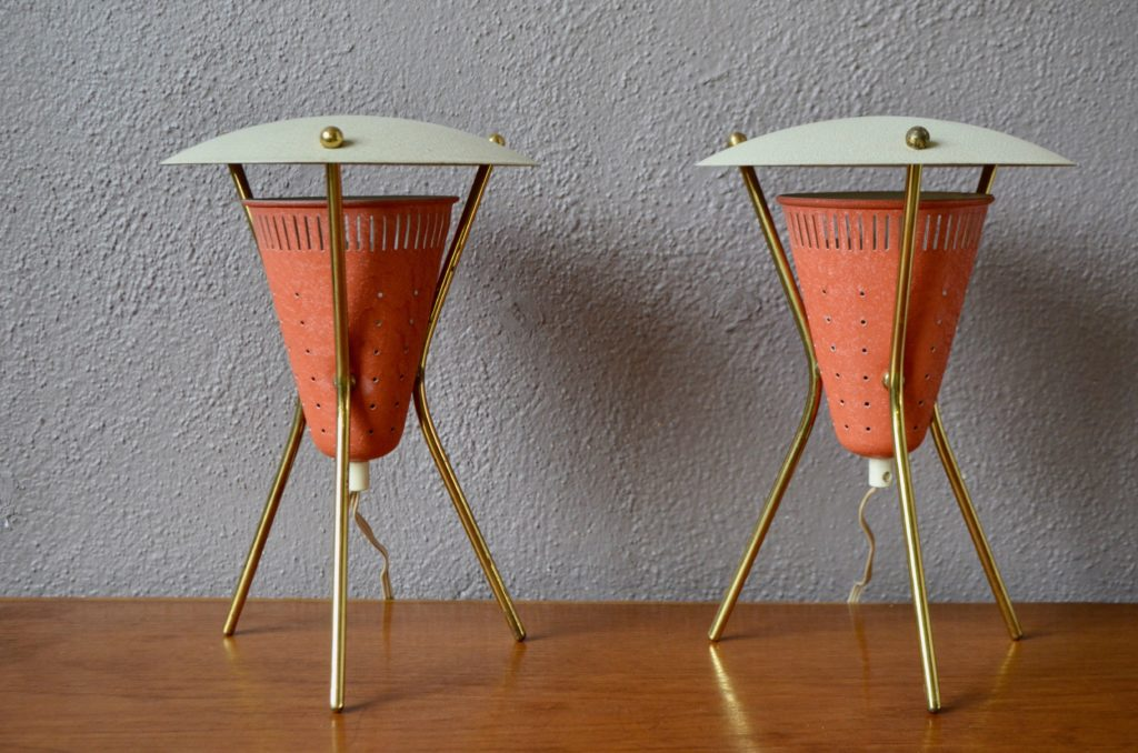 Paire de lampes tripodes