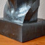 Sculpture tête de femme ébène art déco 1920 Vargas