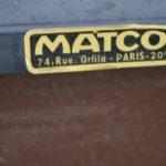Paire de chauffeuses modernistes Matco