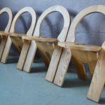 Série de 4 Chaises TS de Roger Tallon