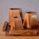 Ensemble vases et plateau Art Déco