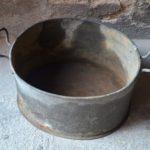 Grande bassine ou bac en zinc ancienne déco jardin bohème