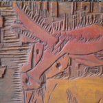 Panneau de sérigraphie Animaux de la savane