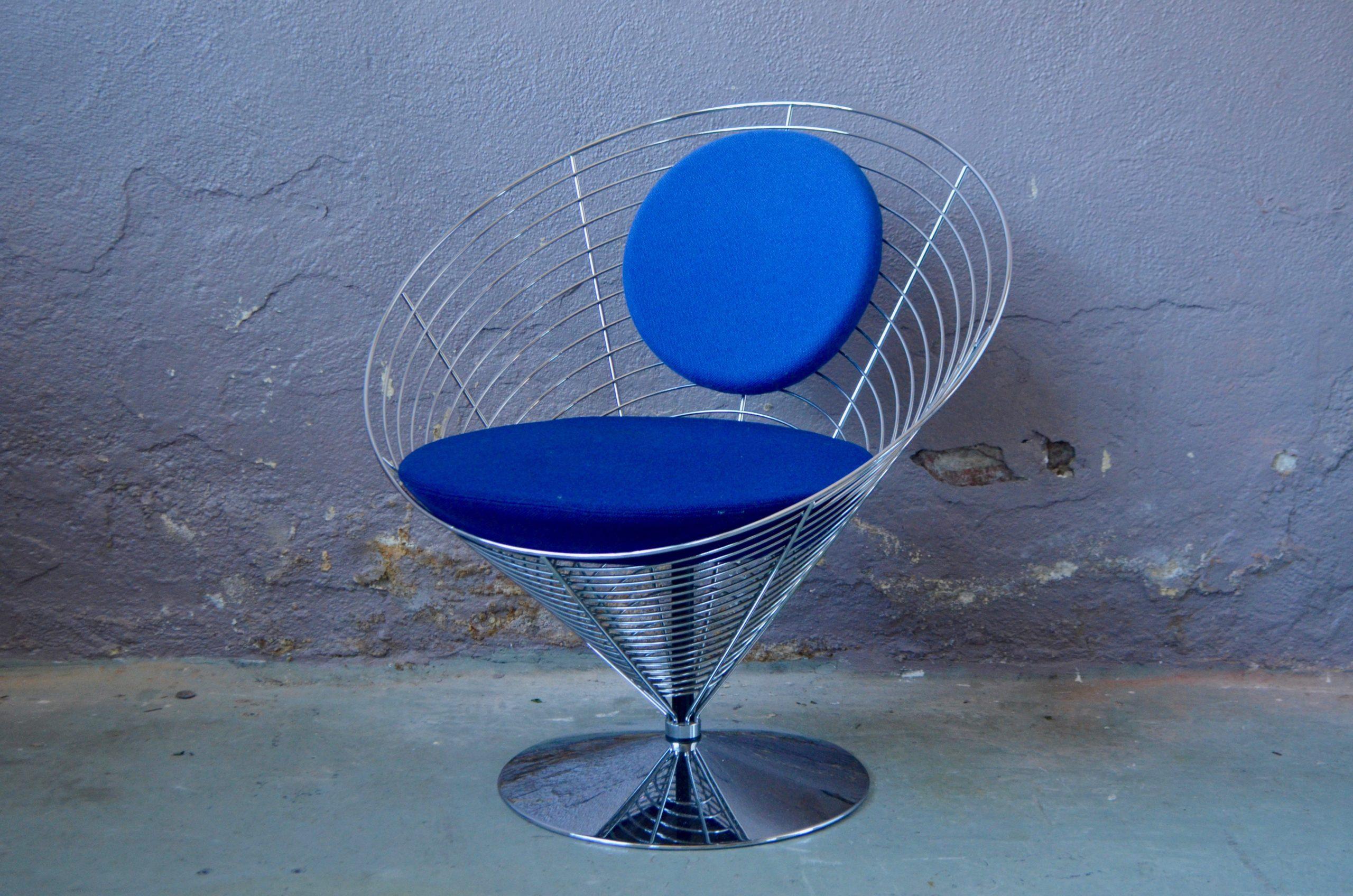 Wire Cone Chair de Verner Panton design iconique scandinave Fritz Hansen