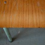 Chaises ancienne look indus garage école bistrot bar brasserie empilable tube métal gris