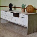 Meuble à tiroir de métier d'atelier vintage casier hifi tv enfilade