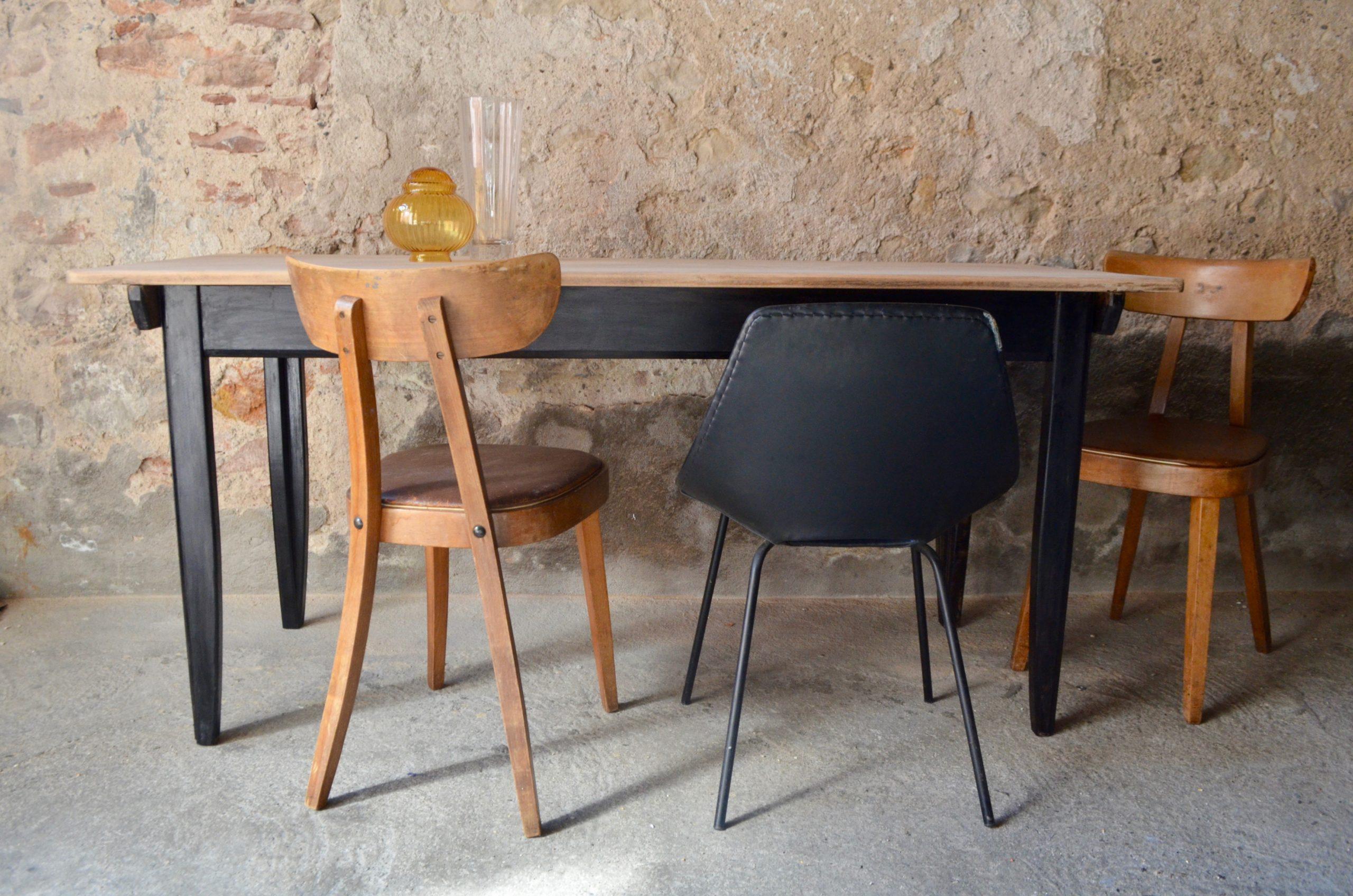 Table de ferme Mérédith   L'atelier Belle Lurette, Rénovation de meubles  vintage