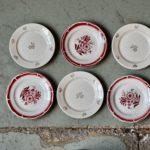 Assiettes vintage rétro dépareillées bohème vaisselle ancien campagne chic rustique art de la table