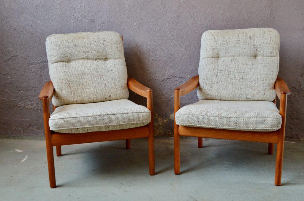 Paire de fauteuils Wilhelm Knoll
