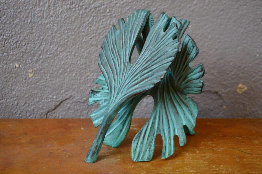 Bronze aux Ginko de Bernard Jobin