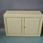 Petit buffet bahut commode beige années 40 patine bohème meuble d'entrée style rustique