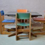 Table d'activités mobilier enfants design années 60 vintage rétro mobilier montessori steiner