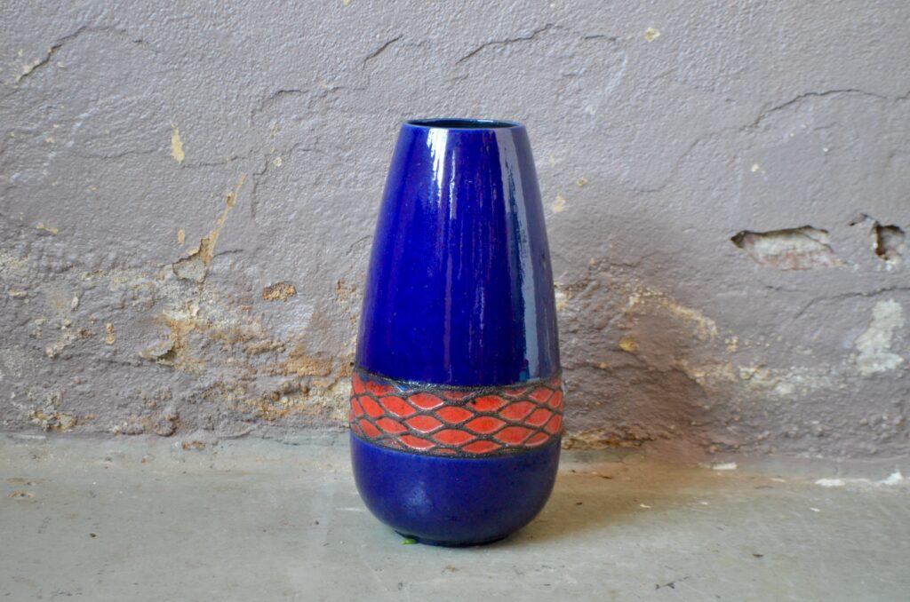 Grand vase de sol bicolore