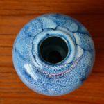 Vase boue bleu émaillé Taizé Daniel de Montmollin