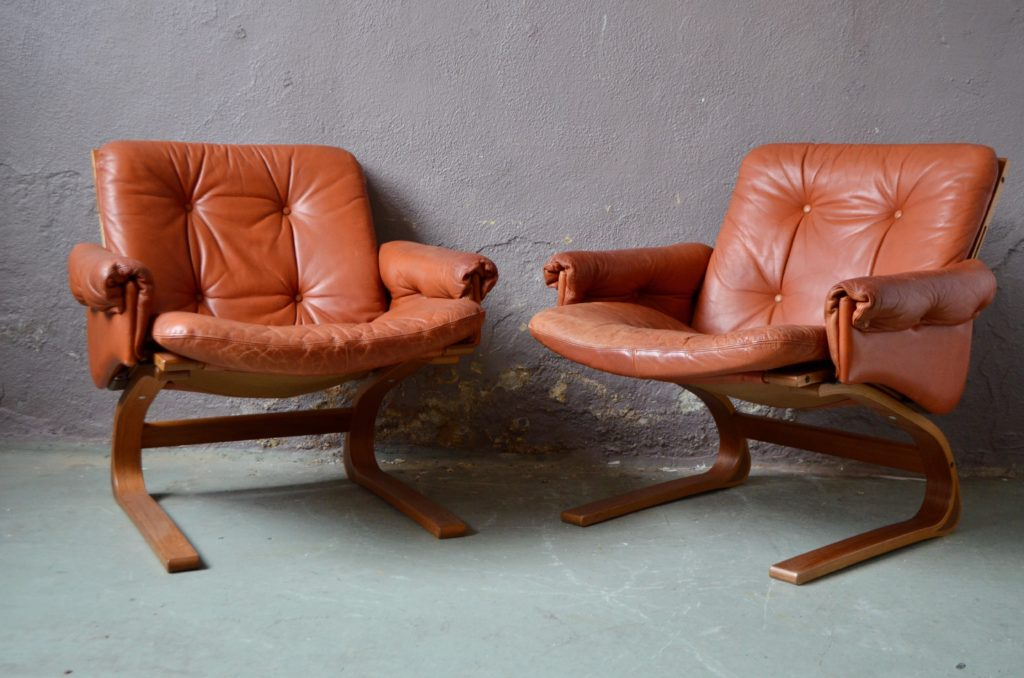 Fauteuils Lounge Elsa & Nordahl Solheim pour Rybo Rykken & Co