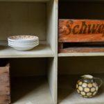 Meuble de métier d'atelier vintage casier hifi tv enfilade