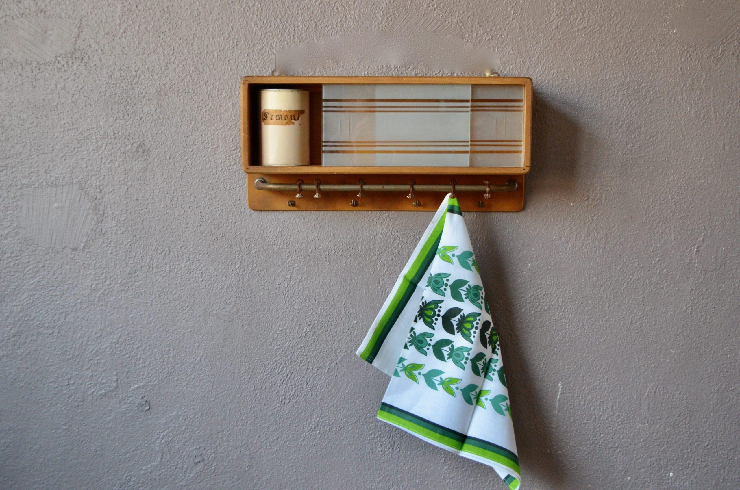 Etagère de cuisine salle de bain design 1950 minimaliste reconstruction