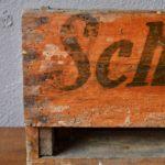 Caisses en bois publicitaires tiroirs d'atelier indus brocante épicerie vintage rétro