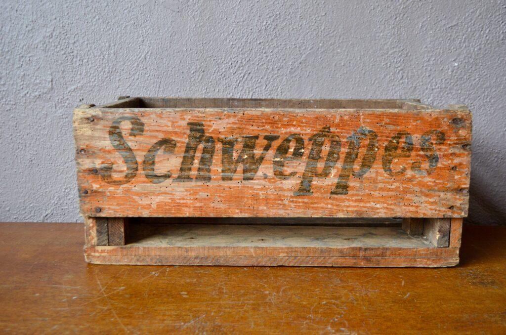 Caisse en bois Schweppes
