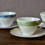 Service à thé bohème en céramique vaisselle ancienne