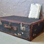 Valise vintage ancienne cuir vintage décoration bohème