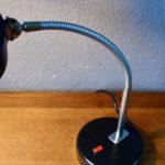 Lampe de bureau articulée noire années soixante