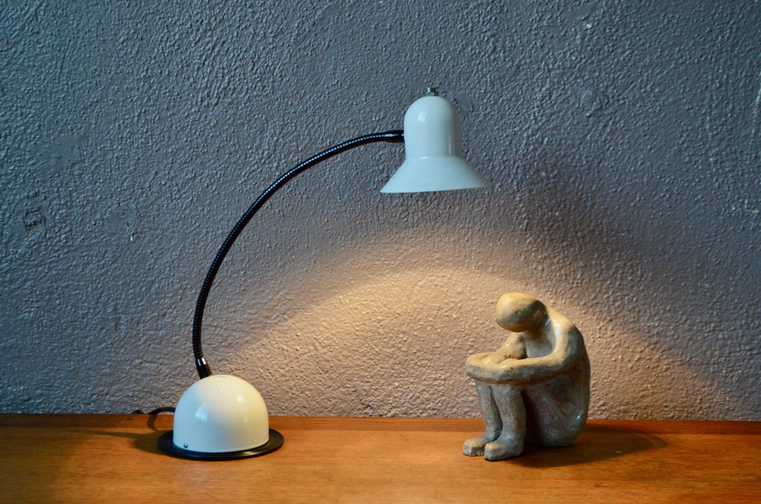 Lampe de bureau vintage space age design italien