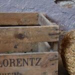 Caisse à vin ancienne déco vintage indus œnologie ancienne style bohème