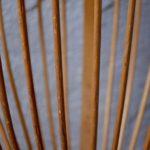 Corbeille en bois ancien vintage panier bout de canapé