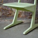 Chaise enfant Casala design vert d'eau pop vintage années 50 bois école