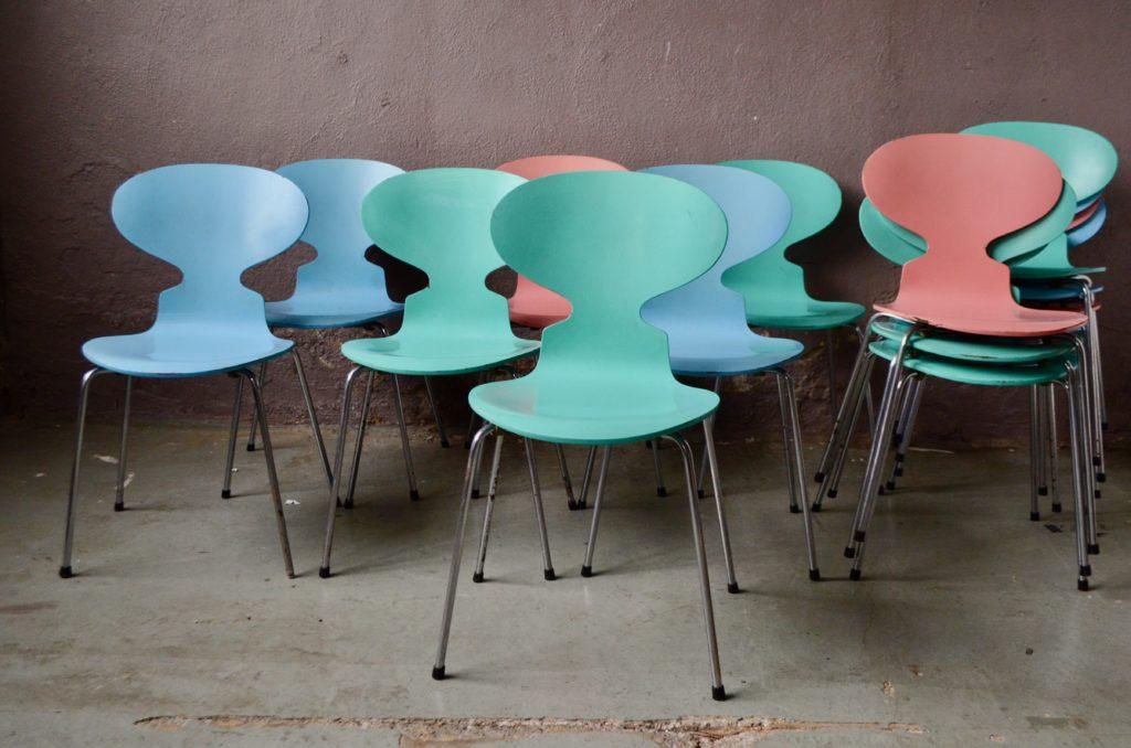 Série de 14 chaises Ant de Arne Jacobsen pour Fritz Hansen