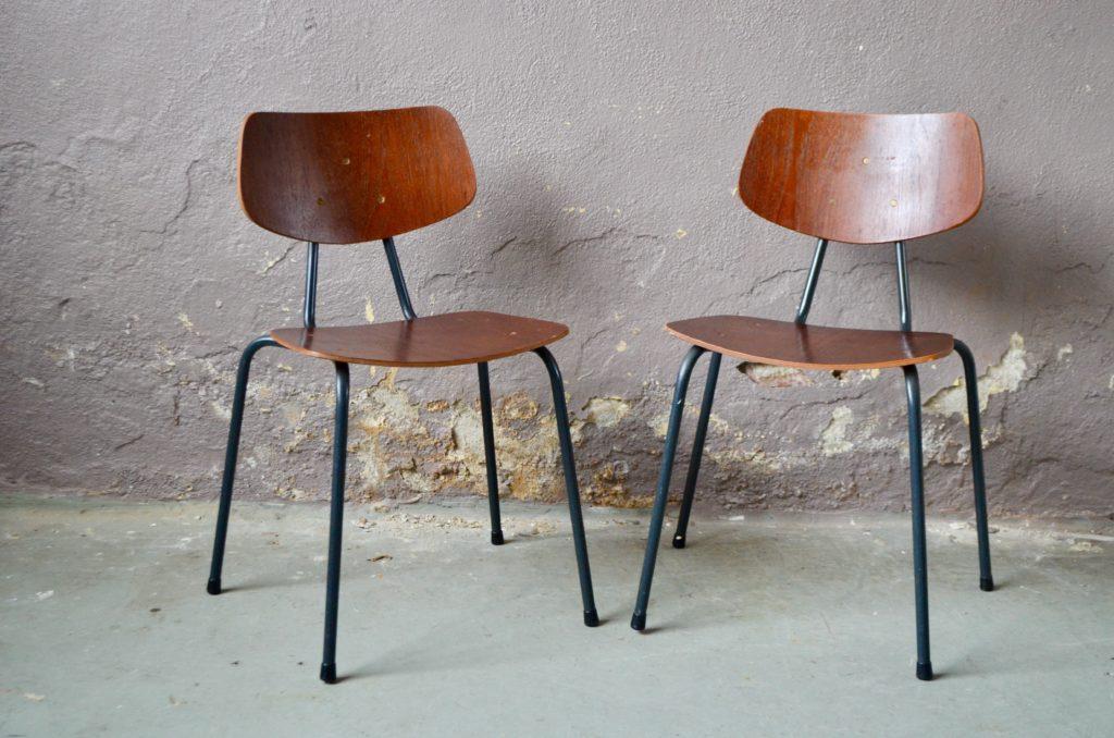 Paire de chaises indus Sidoine