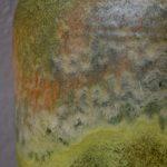 Grand Vase en céramique Carstens signé fat lava minéral style brutaliste scandinave
