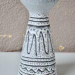 Vase diabolo bicolore vintage en céramique de Jean Austruy Vallauris