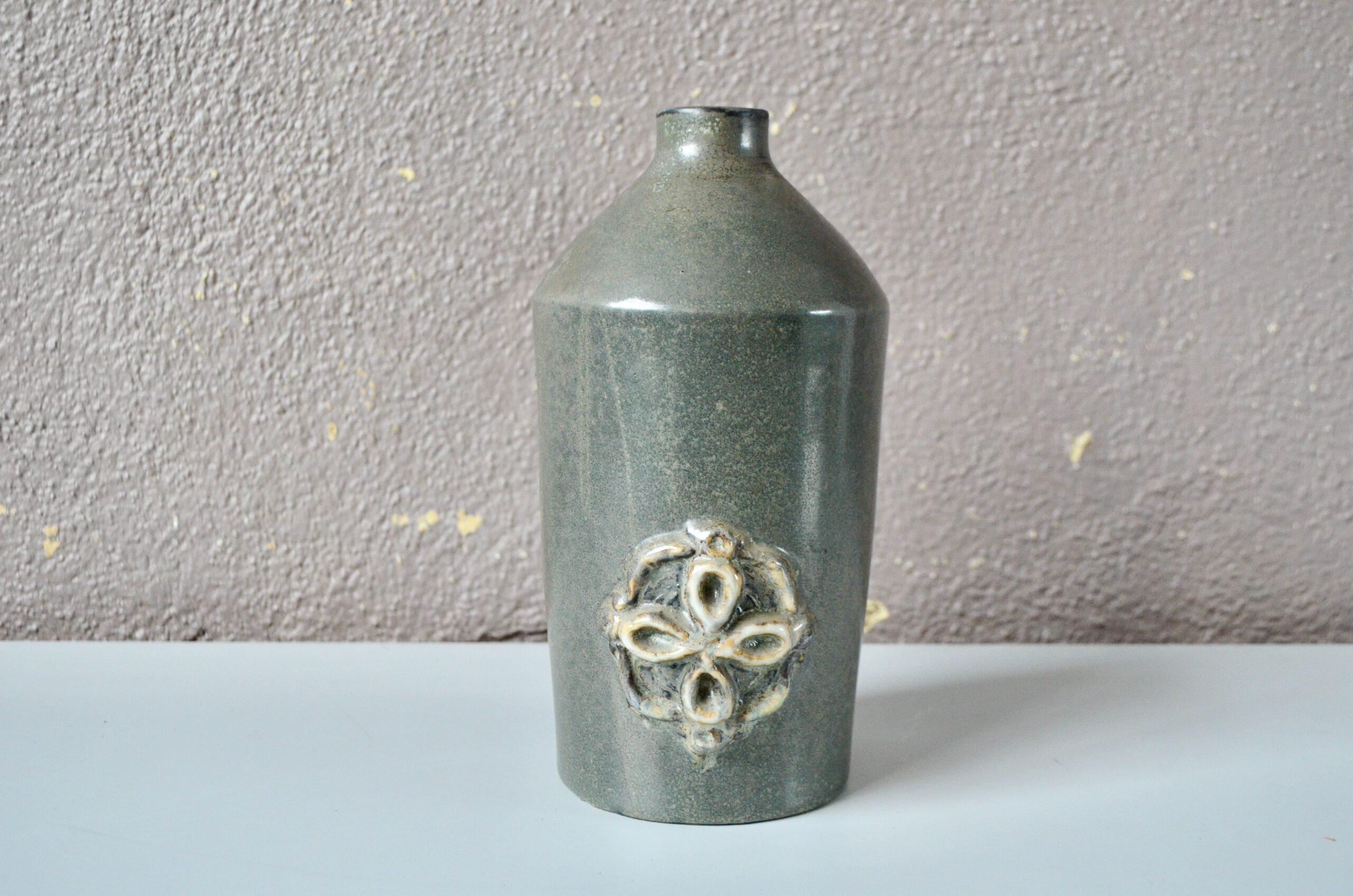 Céramique vase en grès de Saint Amand en Puisaye Michel et Denise Pointu