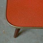 Mini table guéridon vintage porte plante rouge