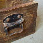 Paire de Caisses en bois publicitaires tiroirs box indus brocante épicerie vintage rétro
