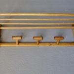 Porte manteau mural en bois courbé style bohème vintage