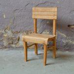 Chaise enfant vintage bois massif rustique bohème campagne