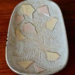 Coupelle vide poche en céramique vintage motifs abstrait