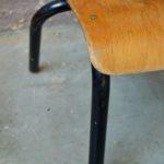 Chaise enfant vintage petite métal bois chambre enfant vintage