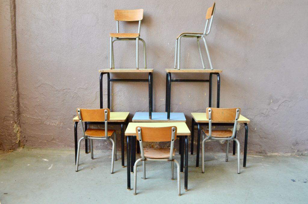 Pupitre & chaise d'école Pablo