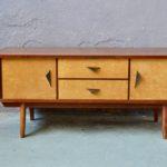 Enfilade sideboard bahut commode vintage rétro meuble TV Hifi années antic french furniture pieds compas