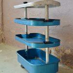 Desserte d'atelier console industrielle à roulettes mobilier usine garage style indus style FACOM