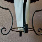 Lampe Suspension Plafonnier midcentury en métal et verre